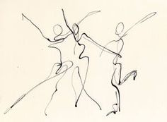 Ink Drawing « Third Time Around - Three Dancers, pen and ink line drawing Gesture Drawing, Life Drawing, Figure Drawing, Movement Drawing, Line Drawing Art, Ink Drawings, Drawing Sketches, Dress Sketches, Drawing Tips
