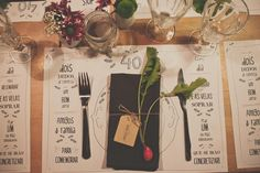 great idea: design placemats for a special party & get simple b photocopies made on 11 x 14 paper