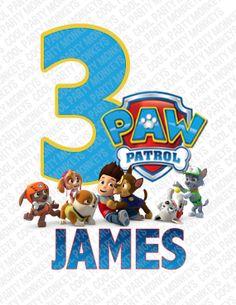 Paw Patrol Birthday Ironon Design Ironon by CoolPartyMonkeys, $6.00