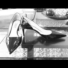 Prada Black Patent Pumps Size 11 fit like 10.5 Prada Black Patent Pumps Size 11 but run small.  10.5 should not have an issue so I am listing as that. No box included.  No trades. Prada Shoes Heels