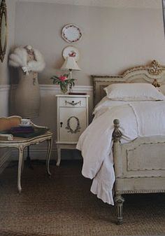 french bedroom in shades of white