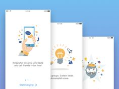 Hey Friends,   Here are some more screens from our recent KingsChat project.   Be sure follow us for more exciting stuff we'll be sharing soon.   Created by VisualPanda team ---- www.visualpanda.com