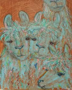 """Alpacalypse Now!"" by Anya Getter #alpaca #art"