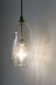 Lamps made out of recycled plastic bottles | lampen gemaakt van recycelde flessen
