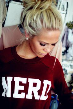 hair. makeup. shirt. ❤