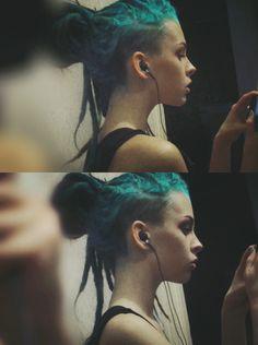 blue green gruge/soft grunge hair//Indie Punk Goddess