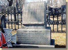 First grave of General T. J. Jackson Lexington, VA