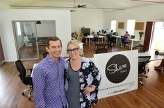 Zac Gill and Celeste Mitchell have opened Share Space in Maroochydore. Photo: Warren Lynam / Sunshine Coast Daily