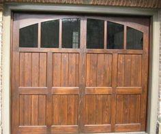 Carriage Garage Doors: Characterized Garage Look : Glazed Cedar Garage Door Garage Door Window Inserts, Barn Door Garage, Cheap Garage Doors, Carriage Style Garage Doors, White Garage Doors, Garage Door Windows, Wooden Garage Doors, Garage Door Styles, Glass Garage Door