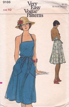 Vintage Vogue 9186 Misses Wrap Apron Dress Sewing Pattern Size Bust Vintage Outfits, Vintage Dresses, Vintage Fashion, 70s Fashion, Fashion Pants, Korean Fashion, Fashion Women, Winter Fashion, Girl Fashion