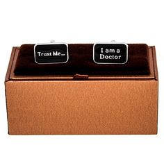 MRCUFF Trust me I am a Doctor Pair Cufflinks in a Presentation Gift Box and Polishing Cloth >>> You can get more details here : Gift for Guys