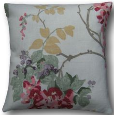 """Cushion Cover Handmade With Laura Ashley's Wisteria Cranberry 10"""" Red Scatter"""