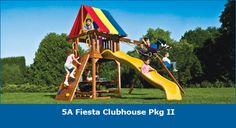 Fiesta Clubhouse Pkg II #swingsets #rainbowplay #rainbowplaysystem #rainbowplaysystems