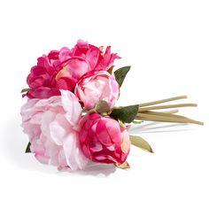 Künstlicher Pfingstrosenstrauß GLADYS, H 25 cm, rosa