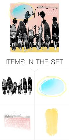"""Surf's up"" by juliehalloran ❤ liked on Polyvore featuring art"