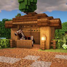 Small Horse Stable Tutorial - Minecraft, Pubg, Lol and Minecraft Farmen, Minecraft Cottage, Cute Minecraft Houses, Minecraft House Tutorials, Minecraft Houses Survival, Amazing Minecraft, Minecraft House Designs, Minecraft Houses Blueprints, Minecraft Construction