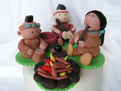 music around the fire  cupcake topper by Sue Harkin
