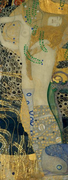 The Best Paintings Of The Great Gustav Klimt Fabrics Collage - Best paintings great gustav klimt