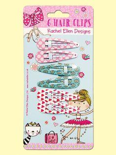 Ballerina hair clips by Rachel Ellen Designs