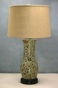 Charlie West lamps for living room - handmade pottery lamps, choose from hundreds of glazes, shapes