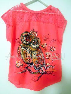 Bluza voal cu dantela pictata (170 LEI la ArtRALU.breslo.ro) Lei, T Shirt, Supreme T Shirt, Tee Shirt, Tee
