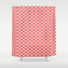 coral  Shower Curtain by Inhale Exhale - $68.00