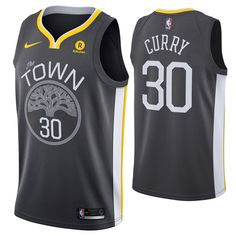 201075f1e5f Golden State Warriors Nike Dri-FIT Women s  The Town  Stephen Curry  30  Swingman Jersey - Grey