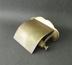 Vintage Brass Toilet Paper Dispenser Holder Vintage Bathroom Decor