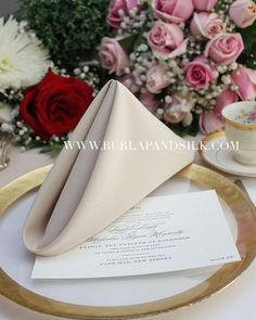 Heavy Duty ex-hire NAPKINS Wedding Catering pack of 12 Dark Orange Damask Rose