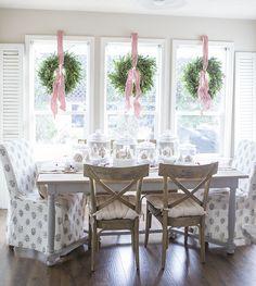 wreaths, windows, glass jars, shutters @ellaclaireinspired