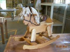 Junior Rocking Horse: Story, lets see...  I am a dad-to-be in a few months and wanted to make something for my son.  I have a little experience with wood but nothing detailed.