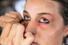 Pin for Later: Transform Yourself Into a Zombie With This Gory Tutorial Line Eyes