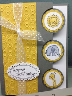 Happy New Baby! | Endless Creations Rubber Stamps can be adapted for any small stamps, spring stamps from Stampin' Up.