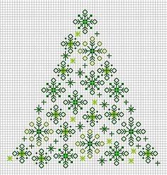 Christmas Tree 2 by Les grilles de Liselotte