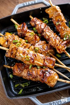 Delicious Yakitori Chicken Skewers are great for throwing on the barbecue or grill pan and a simple recipe the whole family will love. Gluten Free, Dairy Free, Slimming World and Weight Watchers friendly