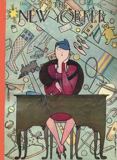 The New Yorker December 1, 1928  Cover Art - Rea Irvin  736×1 008 пикс