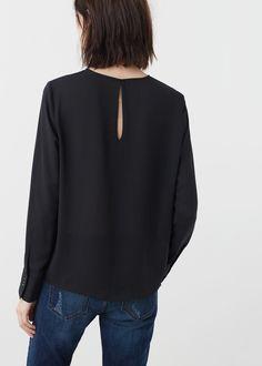Струящаяся блузка  | MANGO МАНГО