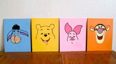"Disney painted canvas for baby nursery. Canvas sizes 8x10"" $10, 12x12"" $20, and 11x14"" $20"
