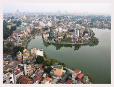 Hanoi by the lake, north Vietnam