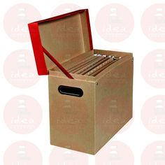 CAJA ORGANIZADORA MULTIUSOS DE CARTON COLOR ROJO 1.0 PIEZA | Idea Interior