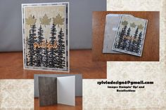 Grateful Woods by Zylvia - Cards and Paper Crafts at Splitcoaststampers Gold Foil Paper, Cricut Cards, Photo On Wood, Wood Texture, Treat Bags, White Ink, Grateful, Stampin Up, Woods