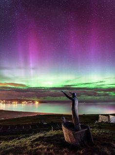Manannán Mac Lir, the Celtic Sea God, Binevenagh Mountain, Limavady, Co Derry…