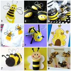 Lavoretti per bambini: le api Decor Crafts, Crafts For Kids, Arts And Crafts, Kindergarten Art, Preschool, Crafts For 2 Year Olds, Party Co, Jack And The Beanstalk, Bee Keeping