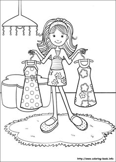 groovy girls coloring page - Coloring Girls