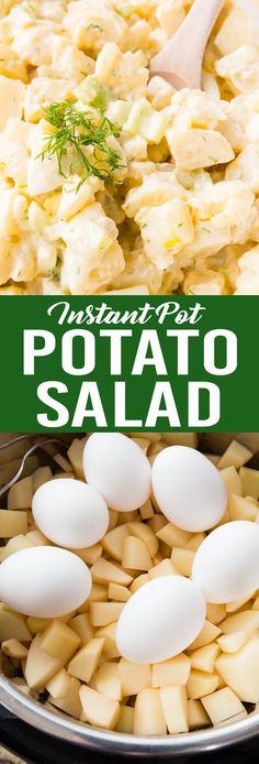 Tender but firm potatoes, perfectly cooked eggs, and a delicious potato salad! #potatosalad #potato #salad #summersalad #instantpot #instantpotpotatosalad