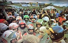Formula 1 Drivers briefing, early 1970's
