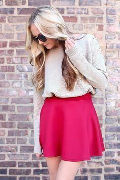 #UOI Urban Outlet         #Skirt                    #School #Skater #Skirt #Burgundy                    Old School Skater Skirt - Burgundy                                            http://www.seapai.com/product.aspx?PID=234467