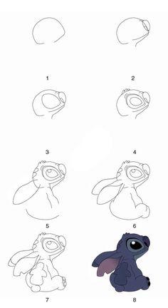 How to draw stitch: