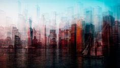NY skyline - Pinned by Mak Khalaf New York Urban Exploration citytravelurbanabstractcityscapenew yorkartskylinenew york citynycnewyorkhudsonvisualwbpa by Carmine_Chiriaco Ny Skyline, Skyline Design, City Photography, Fine Art Photography, Digital Photography, Multiple Exposure Photography, Cityscape Art, City Art, Fine Art America