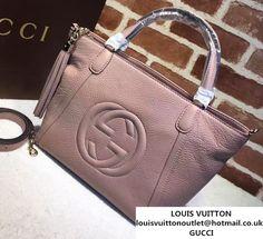 b8c2e653e9b Gucci Soho Leather Top Handle Small Bag 369176 Nude Pink